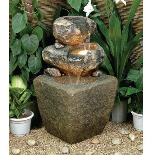 Alfresco Home Sasso Fountain (With Pump And Light)