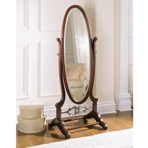 Powell Furniture - Heirloom Cherry Cheval Mirror - 998-773
