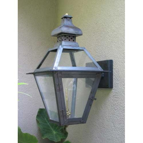 Regency GL20 Regenia Rue Natural Gas Light With Open Flame Burner And Electronic Ignition On Wall Mustache Mount