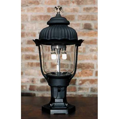 Gaslite America GL1700 Cast Aluminum Manual Ignition Natural Gas Light With Open Flame Burner And Pedestal Mount