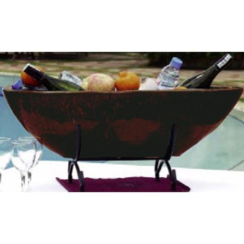 Alfresco Home Nave Beverage Cooler - Cognac