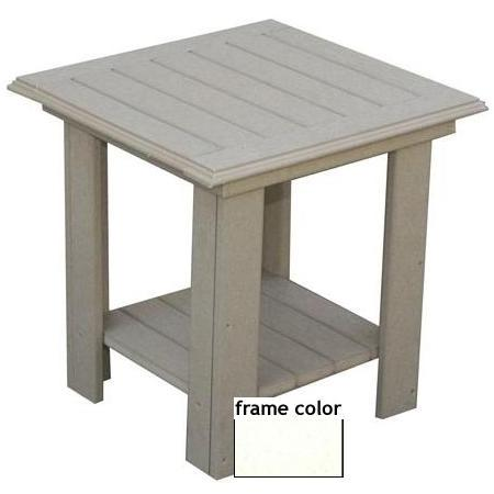 Eagle One Recycled Plastic Lexington End Table - White