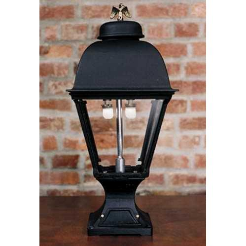 Gaslite America GL2000 Cast Aluminum Manual Ignition Natural Gas Light With Open Flame Burner And Pedestal Mount