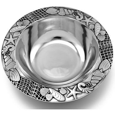 Wilton Armetale Sea Shore Medium Round Bowl/Polished/bx - 289015