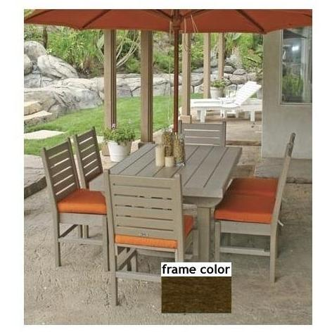 Eagle One Recycled Plastic Cape Cod 60 Inch Patio Dining Set - Brown