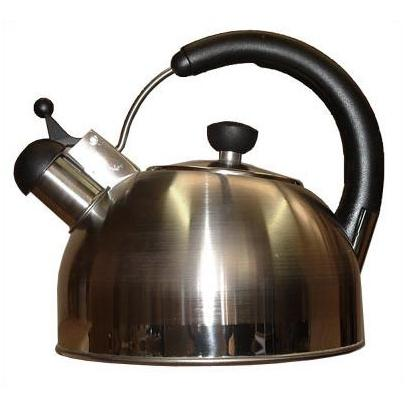 Oggi Stainless Whistling Kettle W/ Glass Dome