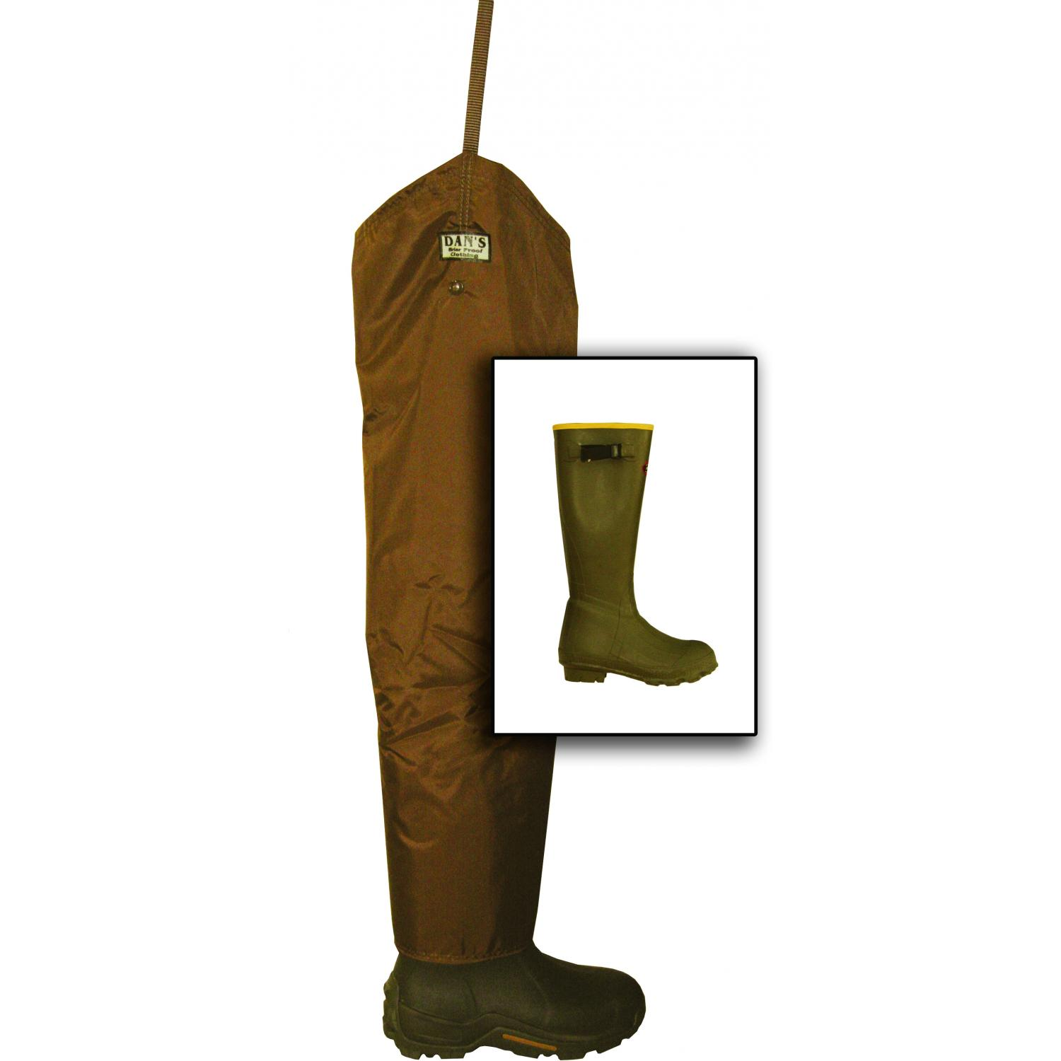 Dans Hunting Gear Froglegs 420 Denier Chap With Non Insulated Lacrosse Boot Size 8