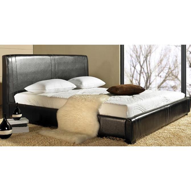 Abbyson Living Connor Leather King Bed Espresso LI-HC001-KI