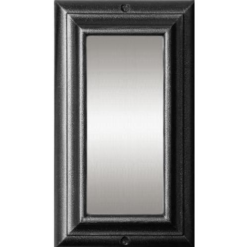 Edgewood Black Vertical Lighted Address Plaque