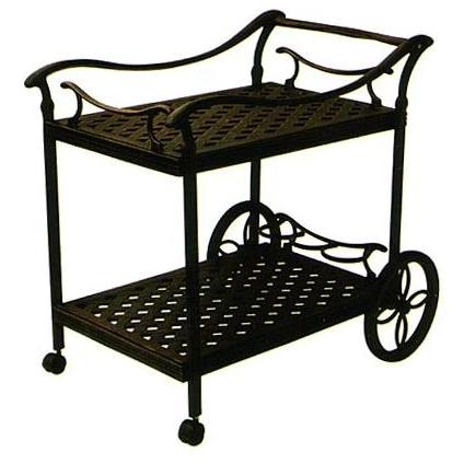 Darlee Cast Aluminum Outdoor Patio Serving Cart - Antique Bronze