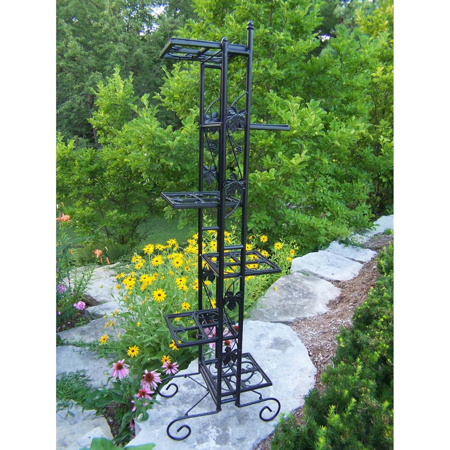 Oakland Living 6 Level Plant Stand - Black