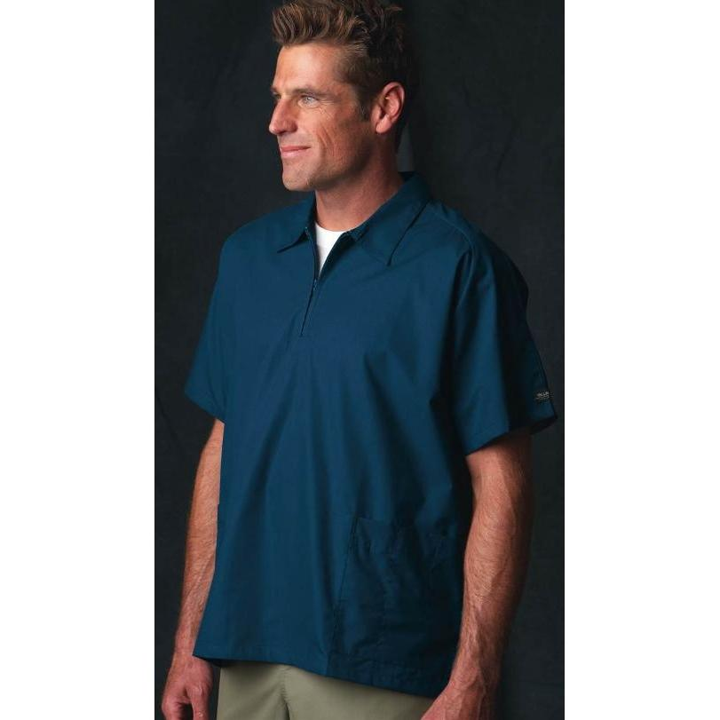Bill Blass 1/2 Zip Scrub Top 2XL - Maritime Blue