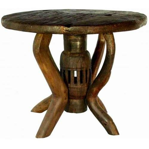 Groovy Stuff Teak Wood Coyote End Table - TF-725