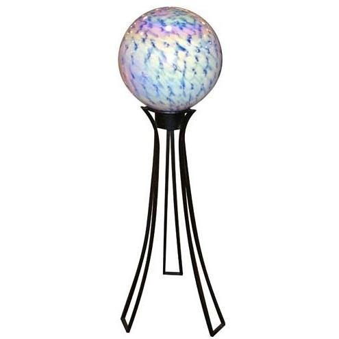 Alpine Glowing Gazing Globe 2 Layer With Metal Stand - White