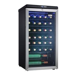 Danby DWC3509EBLS 35 Bottle Freestanding Wine Cooler - Glass Door / Stainless Steel Trim