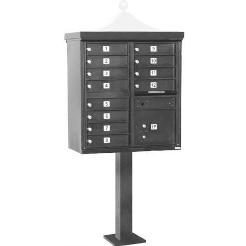 Regency F-Series 12-Door Cluster Box Unit - Gray
