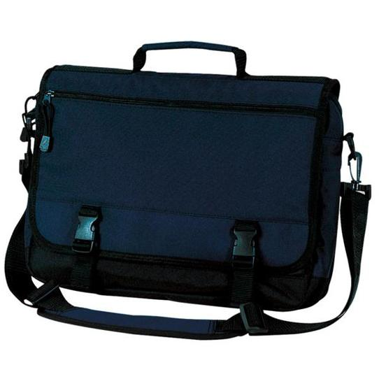 Port & Company Basic Expandable Briefcase - Navy