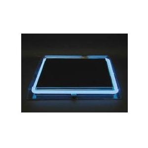 Neon Concepts 15 Inch Square Clear Top Serving Tray (Blue Neon / Disposable Battery)