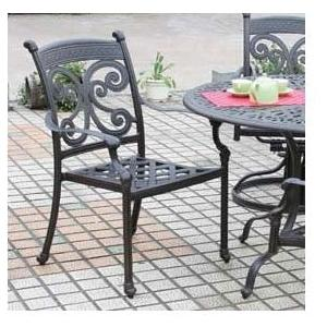Alfresco Home Farfalla Cast Aluminum Outdoor Dining Arm Chair - (Set Of 2)