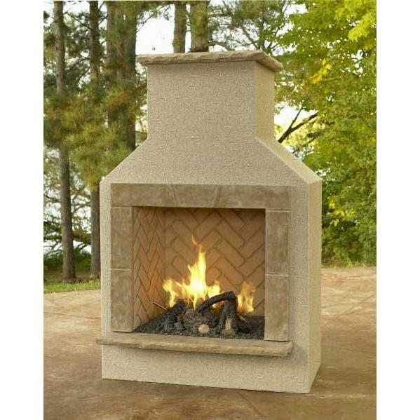 Outdoor GreatRoom Company San Juan Outdoor Propane Gas Fireplace