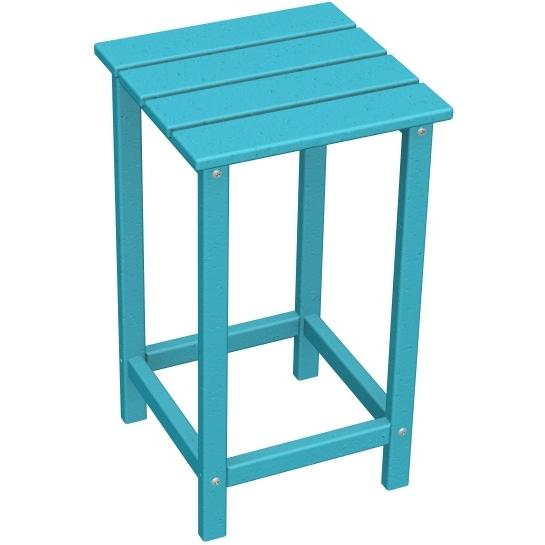 Poly-Wood Recycled Plastic Wood Long Island Adirondack Counter End Table - 15 Inch Square
