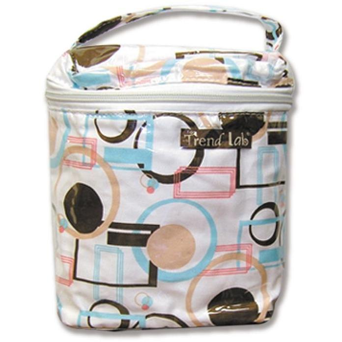 Trend Lab Insulated Bottle Bag - Cocoa Dots