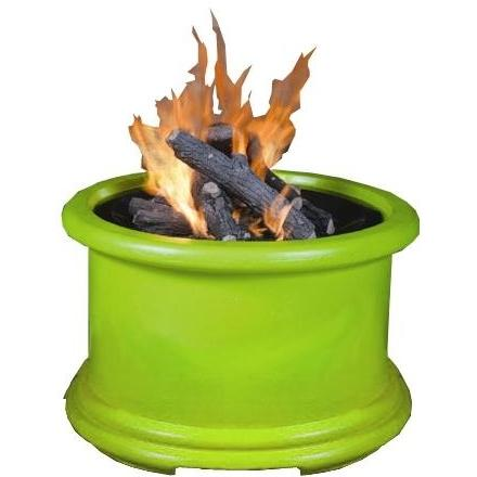 California Outdoor Concepts Island Series Lime Green Fire Pit