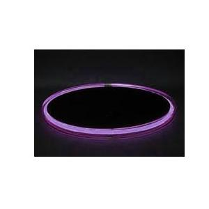 Neon Concepts 15 Inch Round Clear Top Serving Tray (Purple Neon / Disposable Battery)