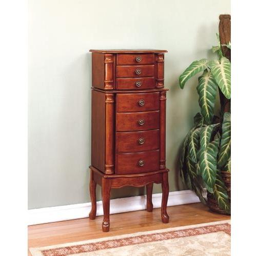 Powell Furniture - Classic Cherry Jewelry Armoire - 881-315