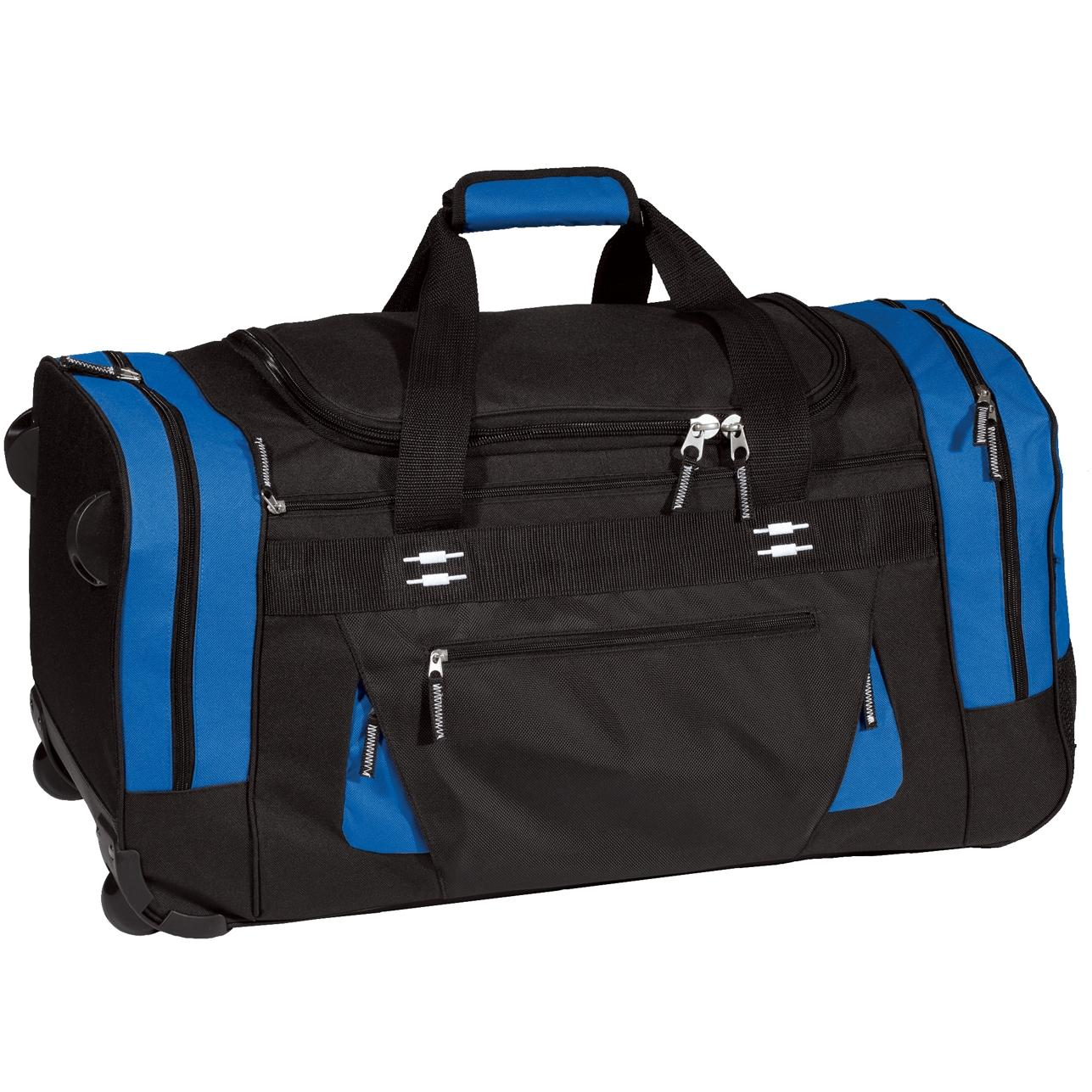 Port Authority Colorblock Rolling Duffel Bag - Marina Blue