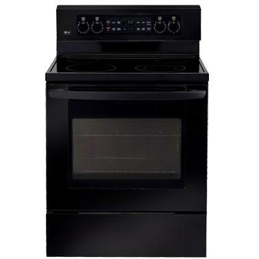 LG Ranges LRE3091SB 30 Inch Freestanding Electric Range - Black