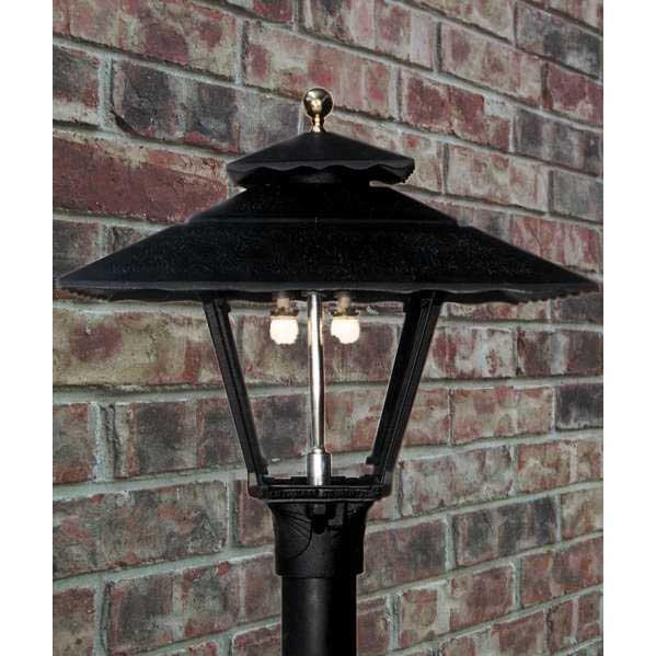 Gaslite America GL1800 Cast Aluminum Manual Ignition Natural Gas Light With Dual Mantle Burner For Post Mount