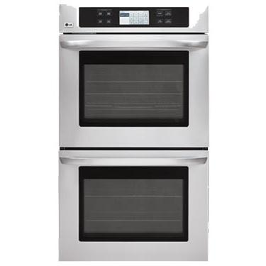 LG Ovens 4.7 Cu. Ft. Per Oven 30 Inch Double Wall Oven, Stainless Steel - LWD3081ST