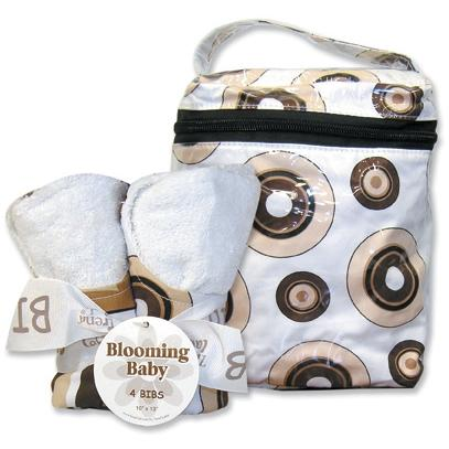 Trend Lab Bottle Bag And Bib Set - Hot Cocoa