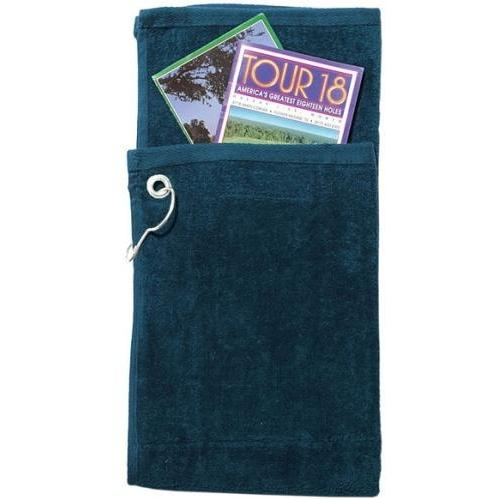Cobra Caps Bi-Fold Golf Towel With Pocket - Navy