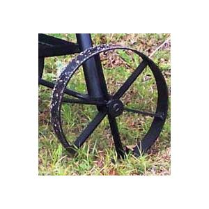 Horizon Smokers Replacement Steel Wagon Wheel For 16 Inch Smoker Grills - 12 Inch Diameter