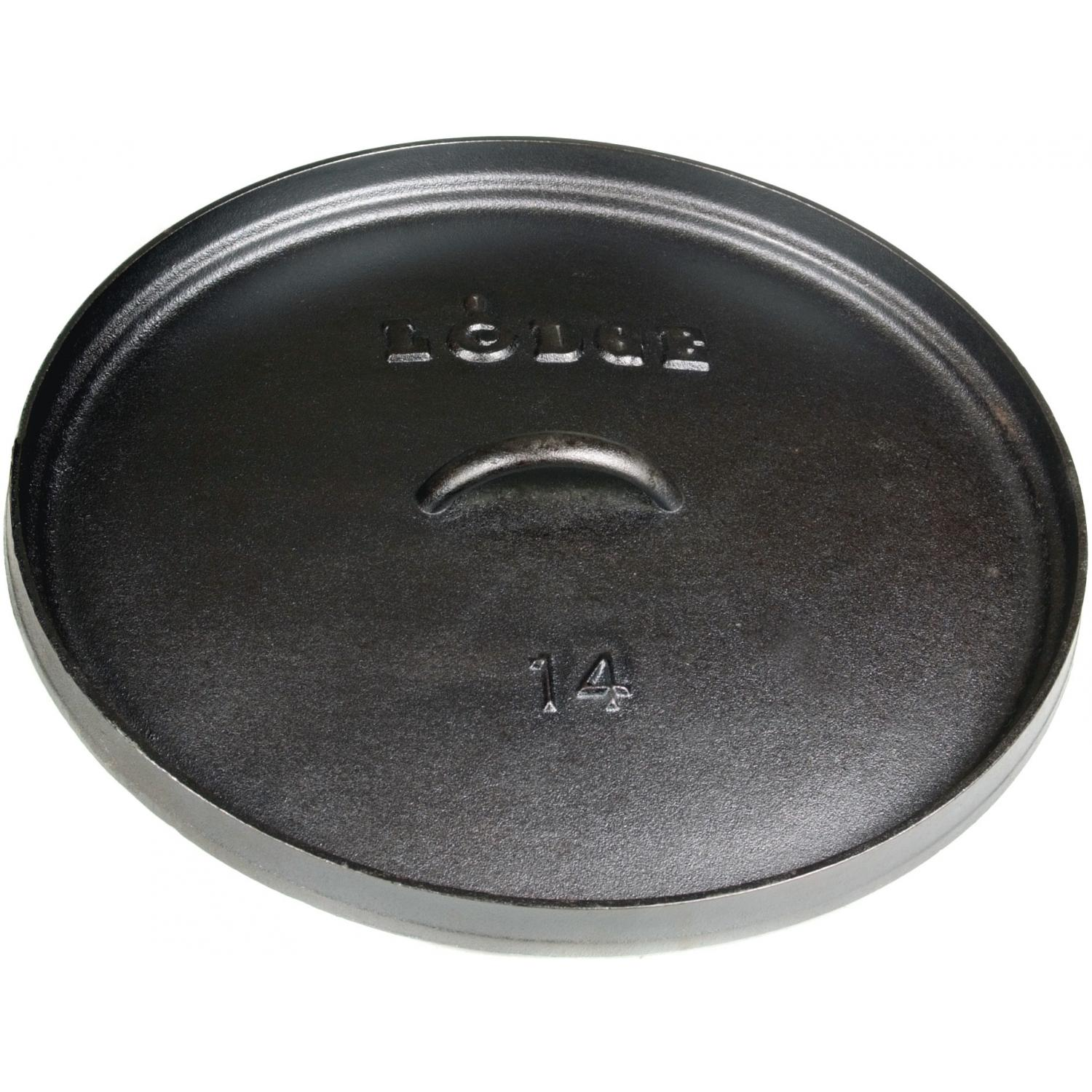 Lodge Lids 14 Inch Seasoned For Camping Dutch Oven Cast Iron Lid - L14CL3