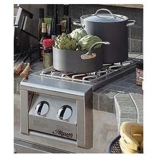 Alfresco Propane Gas Double Side Burner - Built-in