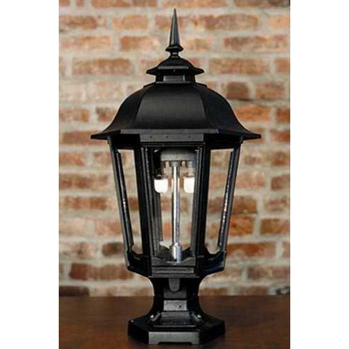 Gaslite America GL1200 Cast Aluminum Manual Ignition Natural Gas Light With Dual Mantle Burner And Pedestal Mount