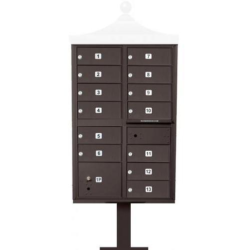Regency F-Series 13-Door Cluster Box Unit - Bronze