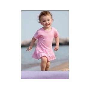 Rabbit Skins Infant Ruffle Romper Dress 12 Month - Lilac