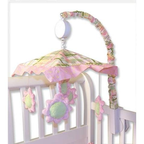Trend Lab Musical Crib Mobile - Nantucket Pink