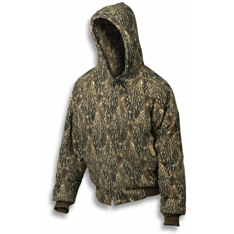 Feather Flage Duck Feather Camouflage Insulated Jacket With Hood - Large