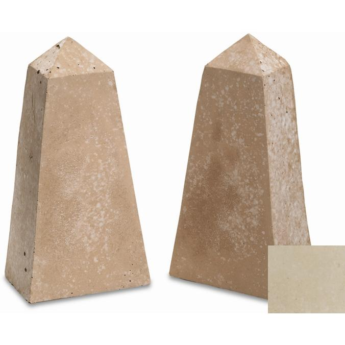 Peterson Gas Logs Decorative Geo Shapes Ivory Obelisk Set - Set Of 2
