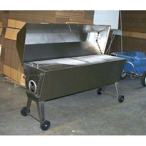Cajun Grill Stretch BBQ Charcoal Grill Stainless Steel