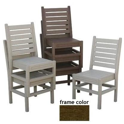 Eagle One Recycled Plastic Stackable Chair - Brown