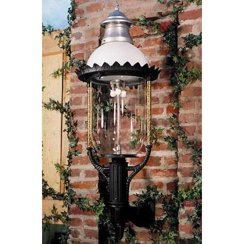 Gaslite America GL36 Cast Aluminum Manual Ignition Natural Gas Light With Open Flame Burner And Standard Wall Mount