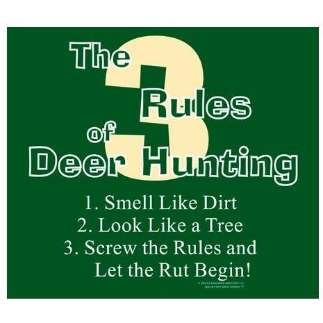 3 Rules Deer Hunting Apron