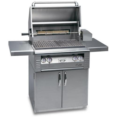 Alfresco AGBQ Classic 30 Inch Natural Gas Grill On Cart With Rotisserie