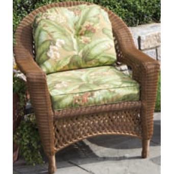 Alfresco Home Sand Dune Deep Seating All-Weather Wicker Lounge Chair - Honey Bear